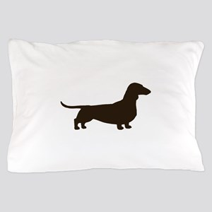 Dachshund Silhouette Pillow Case